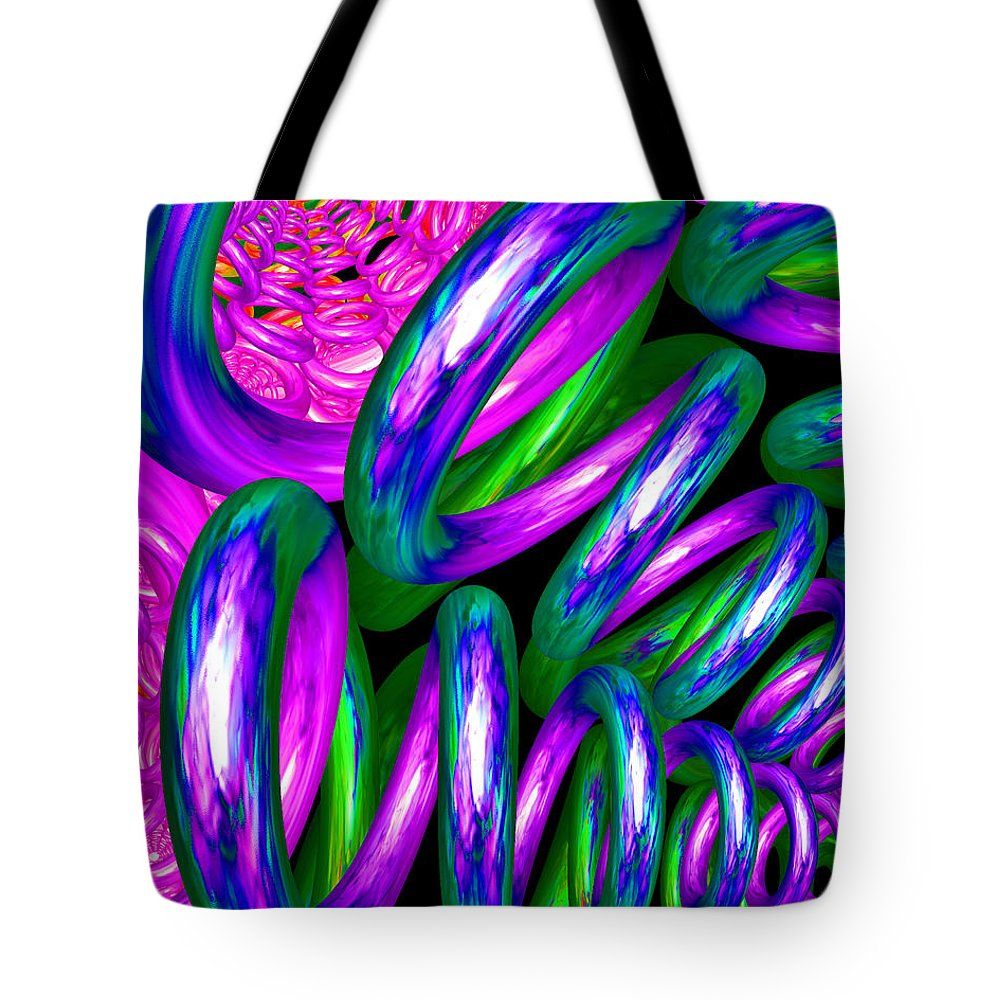 3d Tote Bag featuring the digital art Crazy Helter Skelter by Brian Raggatt