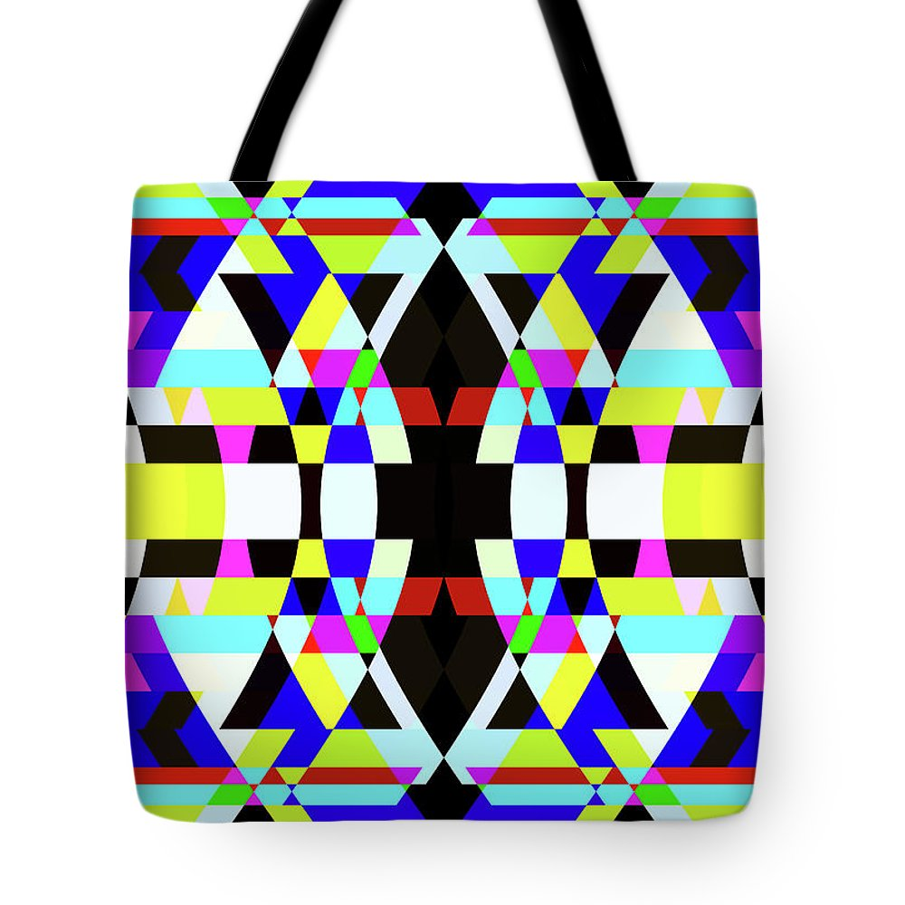 Rectangle Tote Bag featuring the digital art Creative Shapes Abstract Design by Raj Kamal
