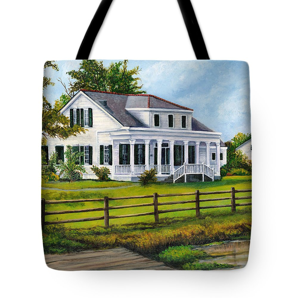 House Tote Bag featuring the painting Creedmoor Plantation by Elaine Hodges