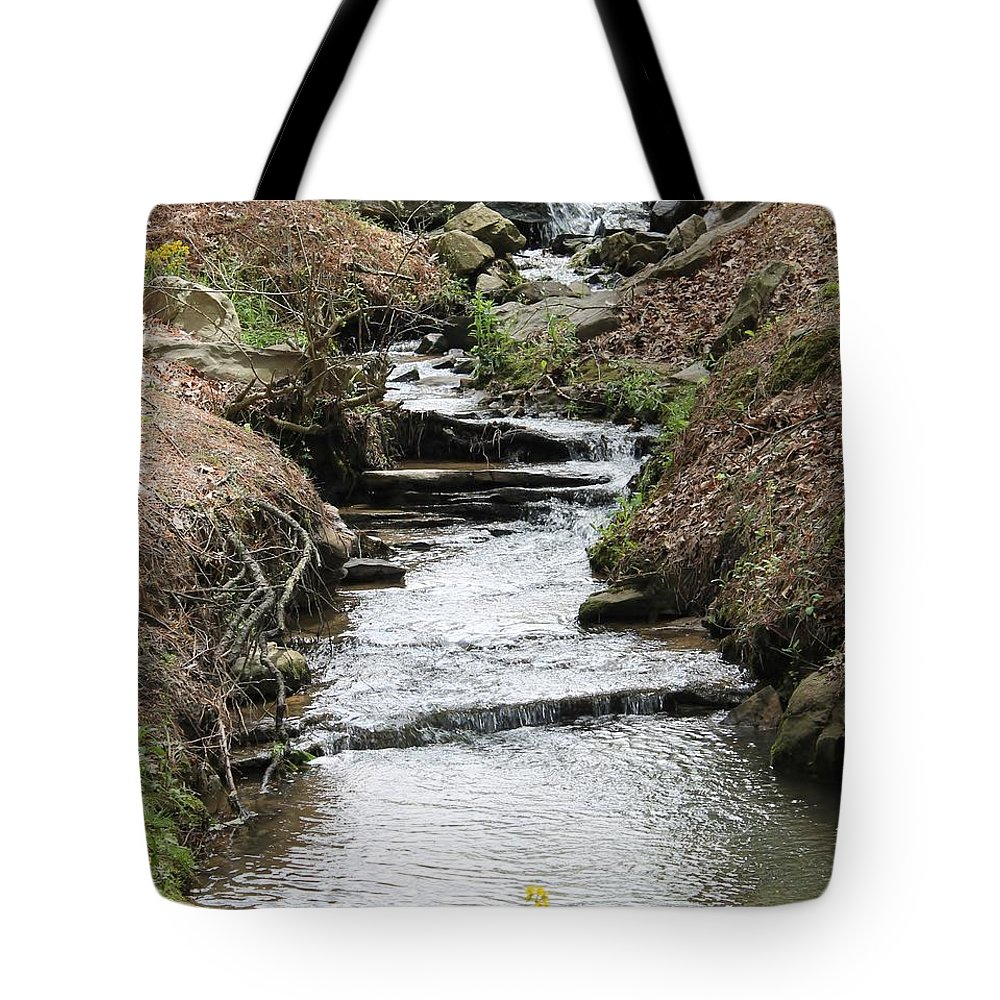 Creek Tote Bag featuring the photograph Creek In Alabama by Mary Koval