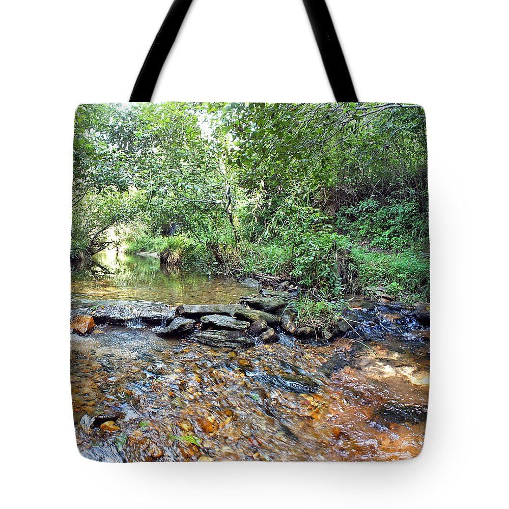 Duane Mccullough Tote Bag featuring the photograph Creekside 2 by Duane McCullough