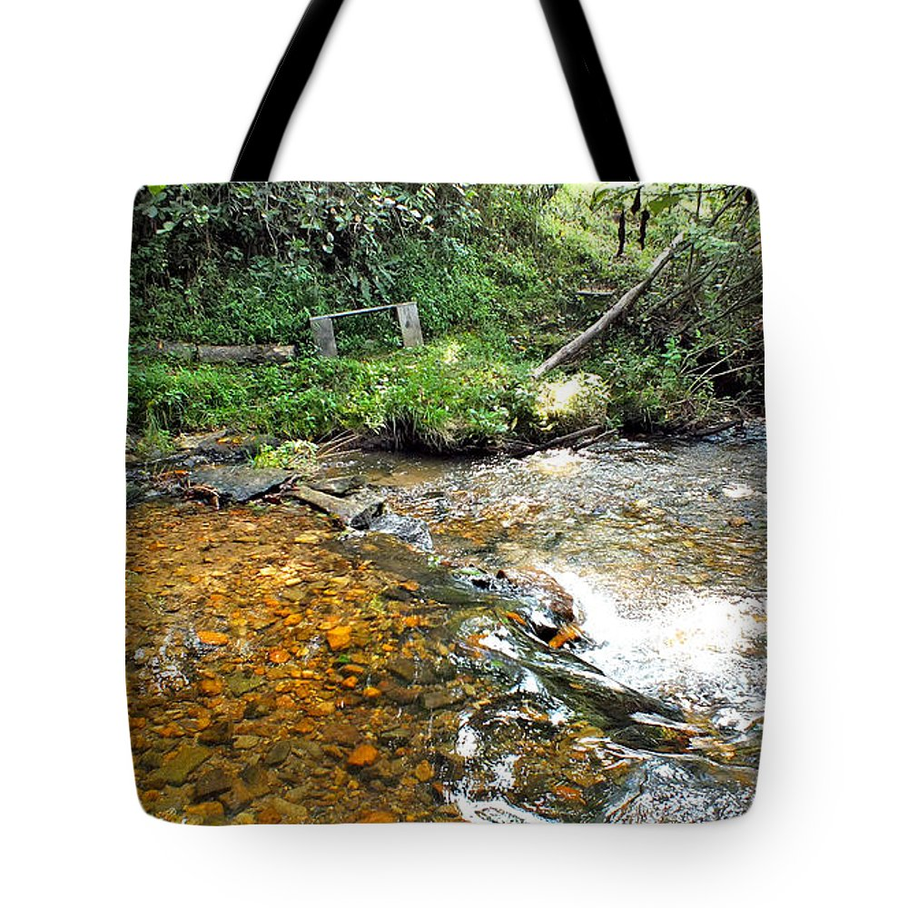Duane Mccullough Tote Bag featuring the photograph Creekside 4 by Duane McCullough