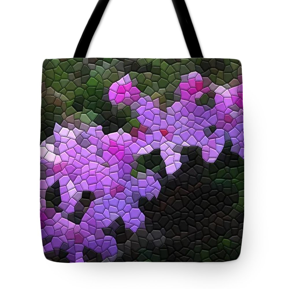 Mosaic Tote Bag featuring the photograph Creeping Phlox by Kathryn Meyer