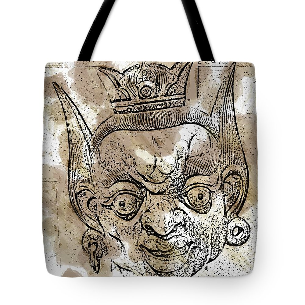 Mask Tote Bag featuring the photograph Creepy Mask by Alice Gipson