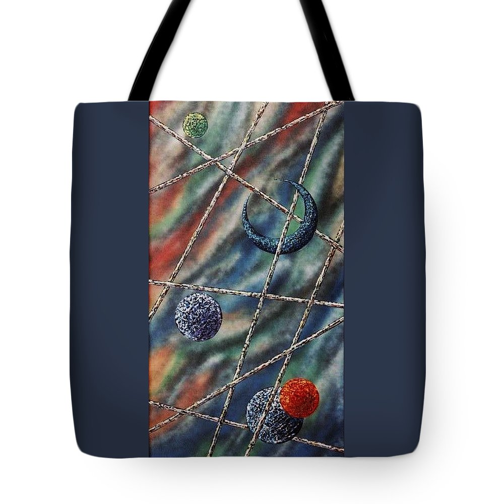 Abstract Tote Bag featuring the painting Crescent by Micah Guenther