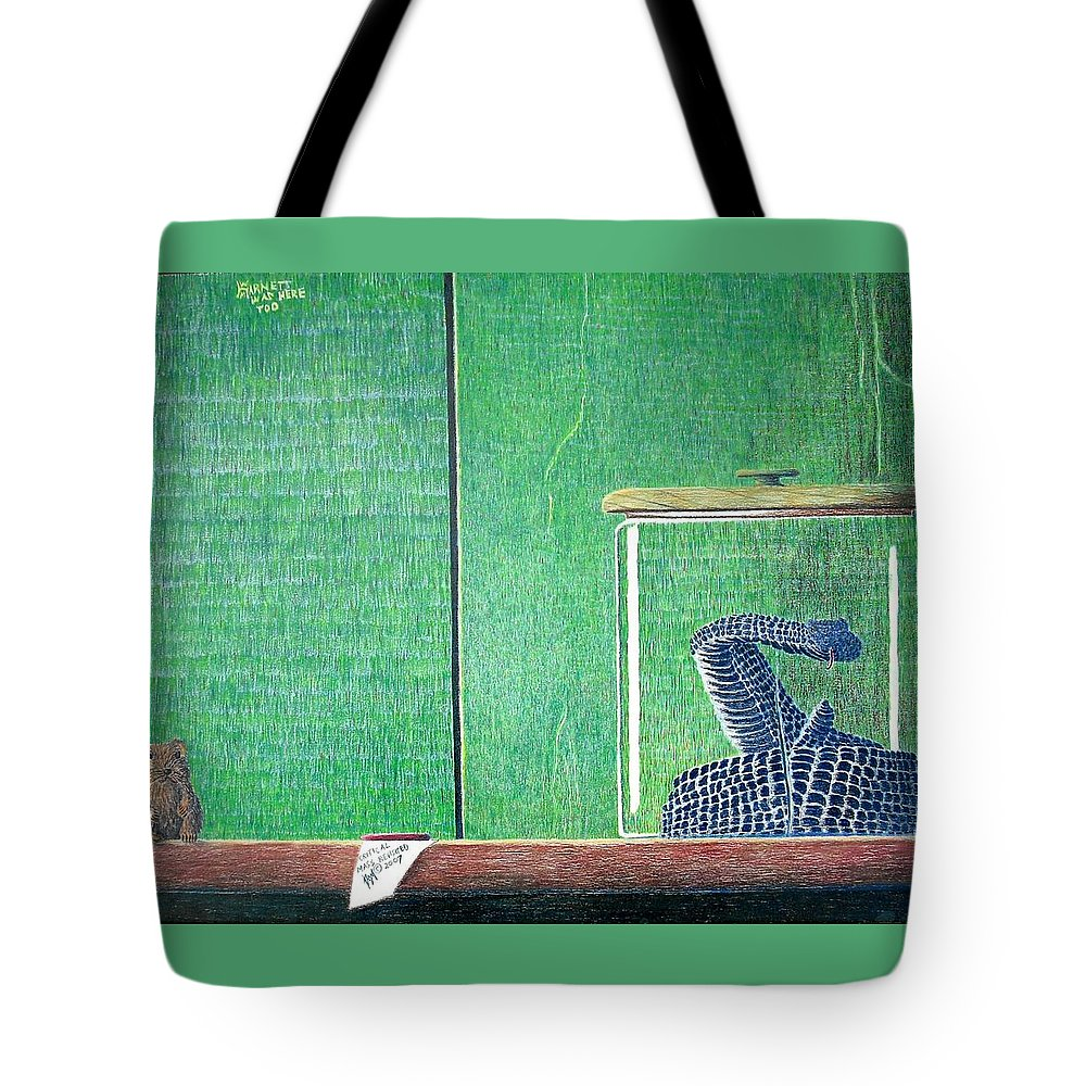 Animal Tote Bag featuring the painting Critical Mass Revisited by A Robert Malcom