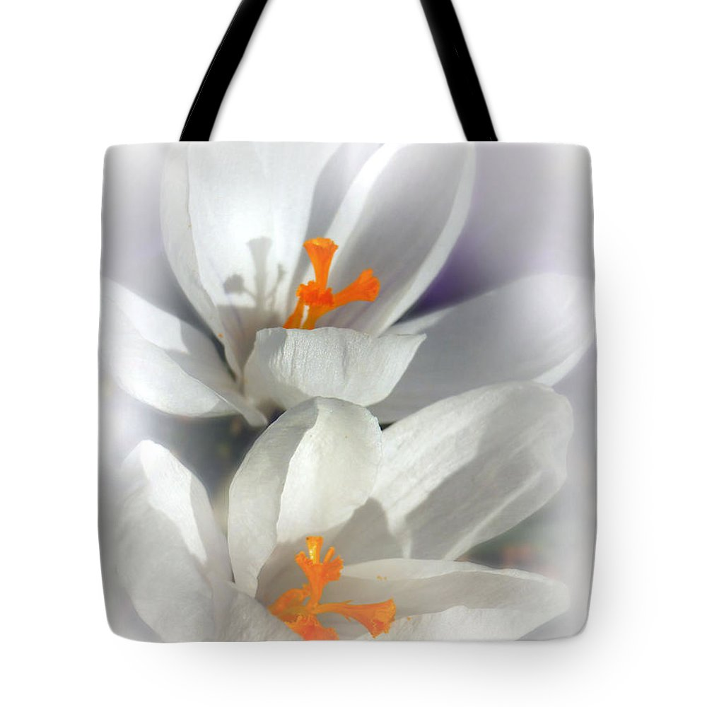 Floral Tote Bag featuring the photograph Crocus by Mikki Cucuzzo