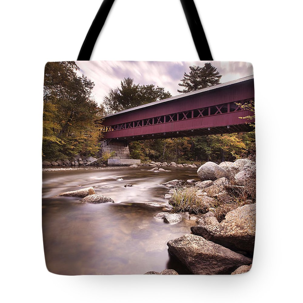 Crossing The Swift Tote Bag featuring the photograph Crossing The Swift by Eric Gendron