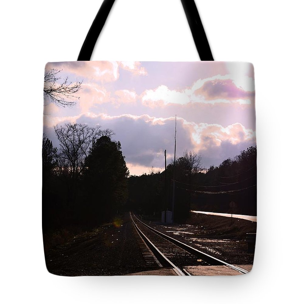 Crossroad Tote Bag featuring the photograph Crossroad by Maria Urso