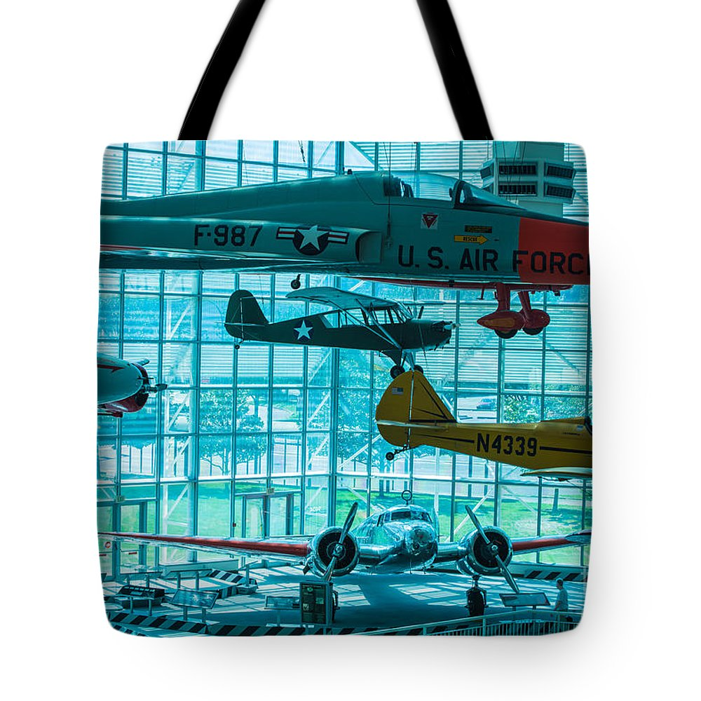 Aircraft Tote Bag featuring the photograph Crowded Skies by Rich Priest