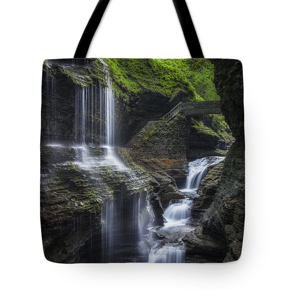 Watkins Glen Tote Bag featuring the photograph Crown Jewel by Bill Wakeley