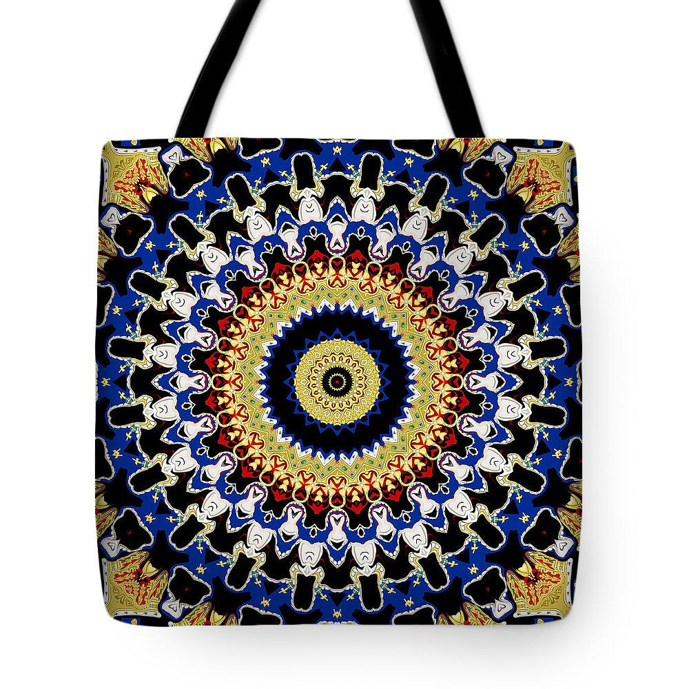 Mandala Tote Bag featuring the digital art Crowning Glory by Joy McKenzie