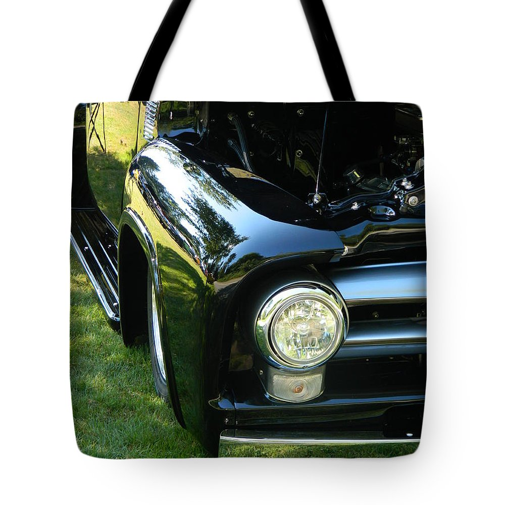 Car Tote Bag featuring the photograph Cruise-in Car Show II by Nicki Bennett