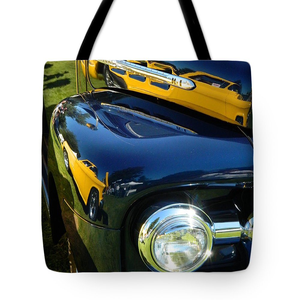 Car Tote Bag featuring the photograph Cruise-in Car Show Vi by Nicki Bennett