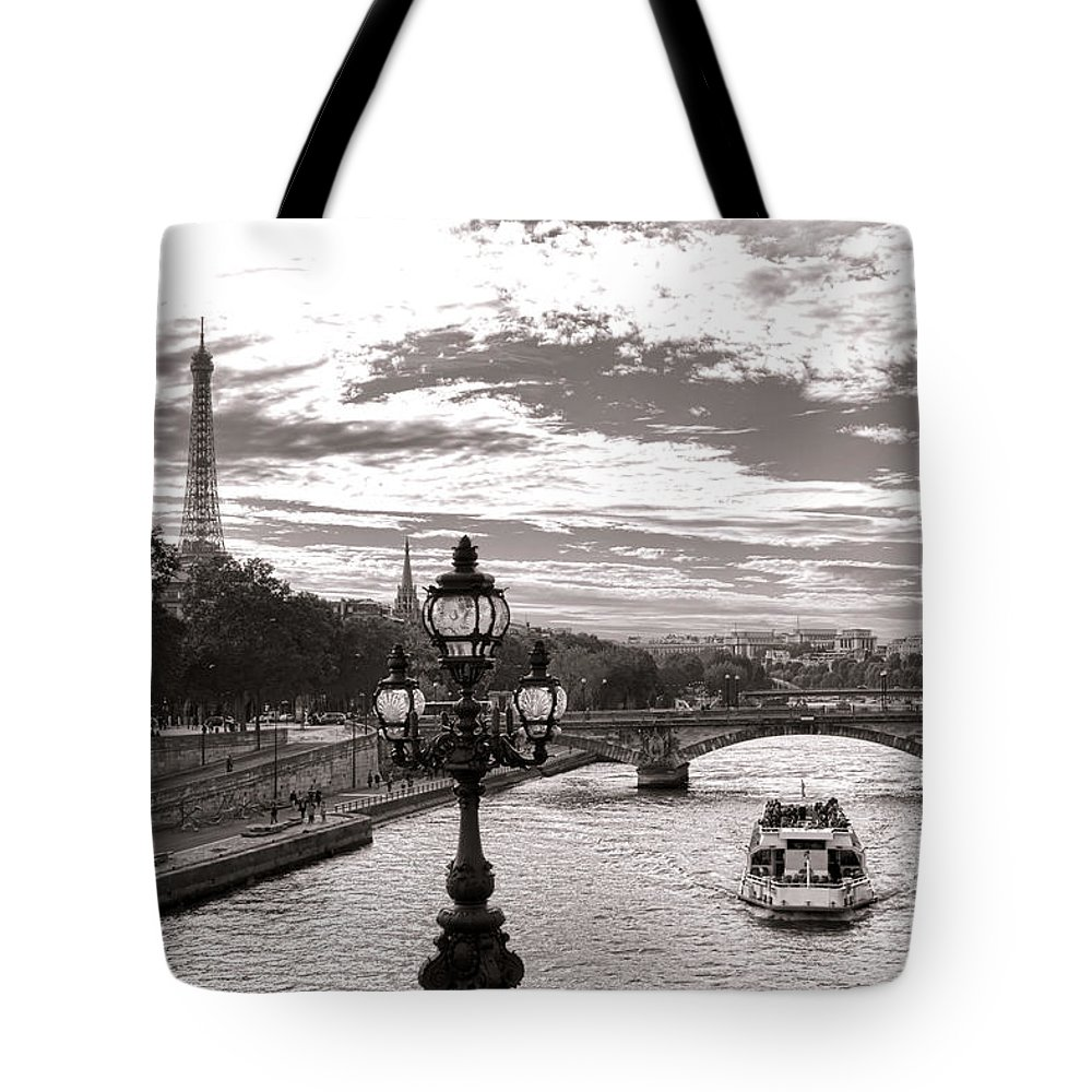 France Tote Bag featuring the photograph Cruise On The Seine by Olivier Le Queinec