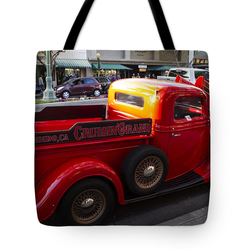 Hot Rod Tote Bag featuring the photograph Cruisin Grand Truck by Guy Shultz
