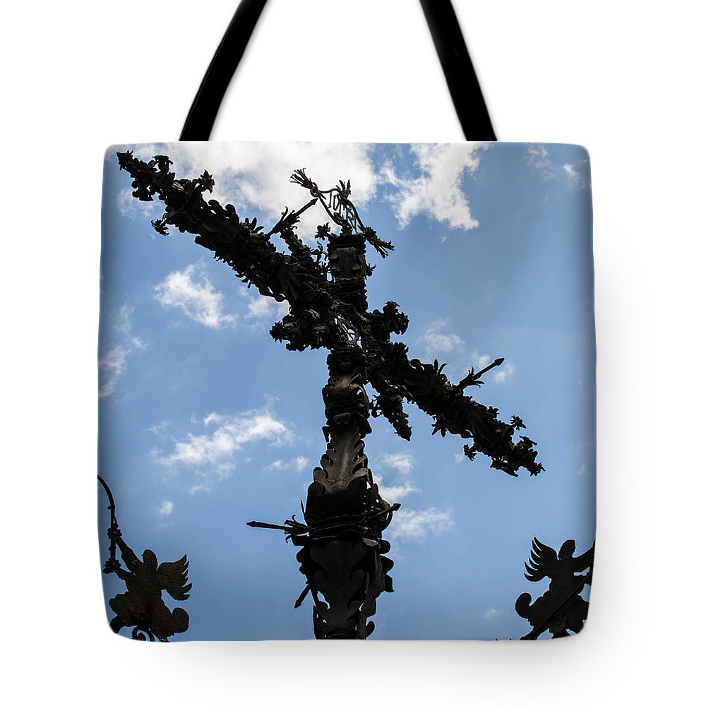 Crux Tote Bag featuring the photograph Crux by Andrea Mazzocchetti