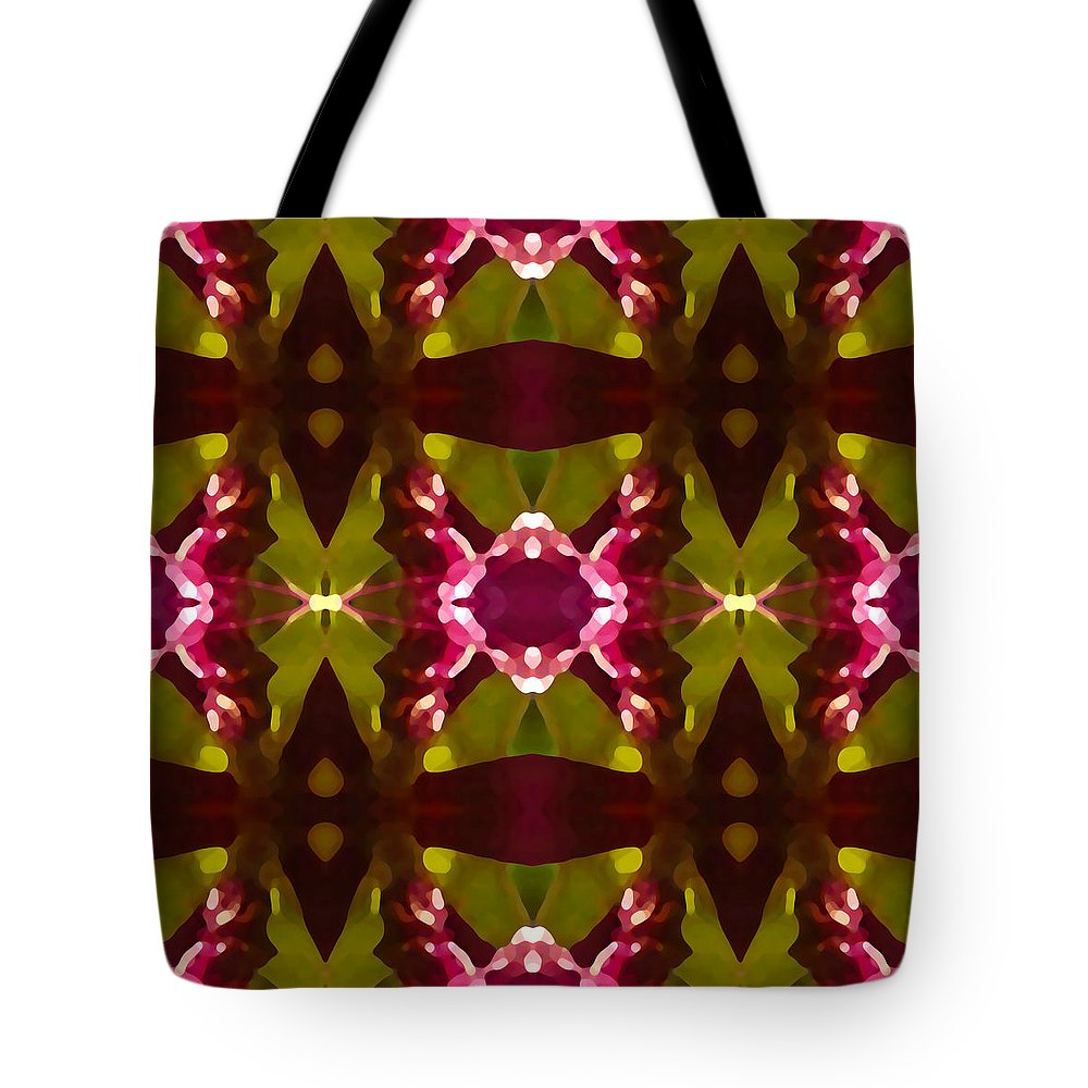 Abstract Tote Bag featuring the painting Crystal Butterfly Pattern by Amy Vangsgard