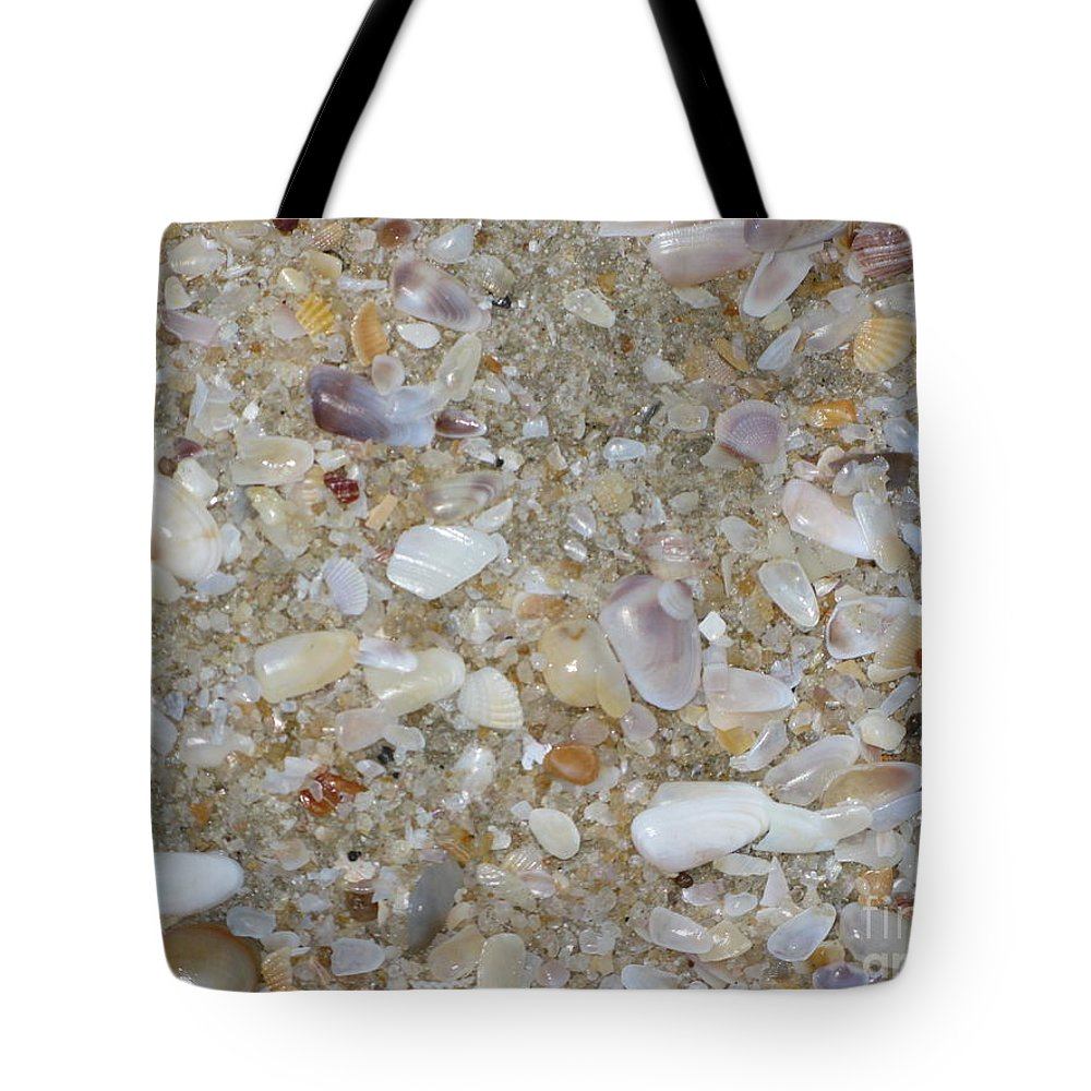 Crystal Shells Tote Bag featuring the photograph Crystal Shells by Mini Arora