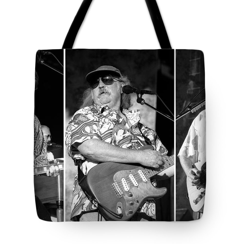 Graham Nash Tote Bag featuring the photograph Crosbystillsnash-gp35 by Timothy Bischoff
