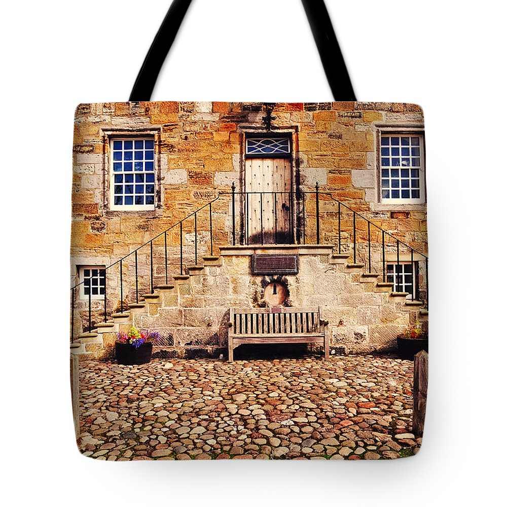 Scotland Tote Bag featuring the photograph Culross Sketches 1 Scotland by Jenny Rainbow