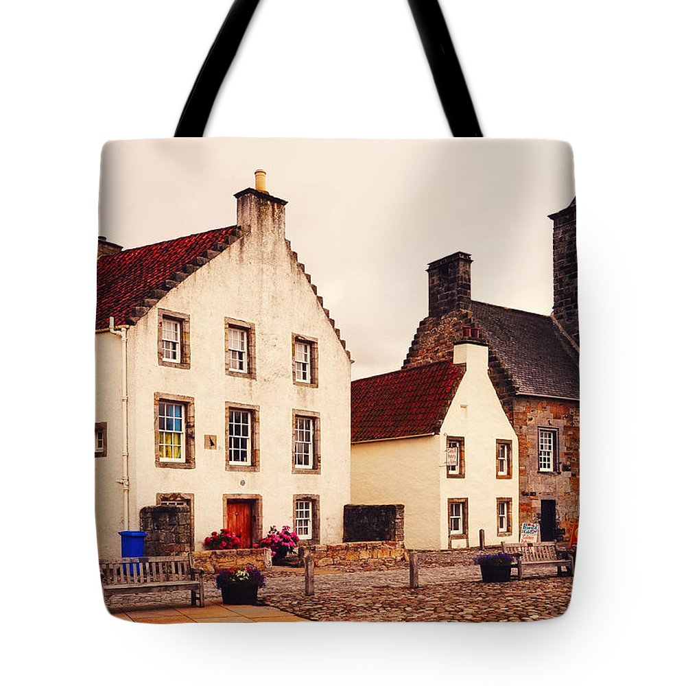 Scotland Tote Bag featuring the photograph Culross Sketches 3. Scotland by Jenny Rainbow