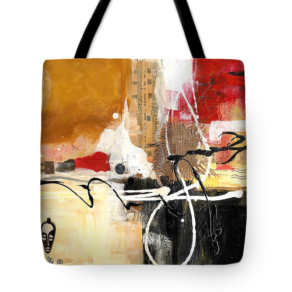 Everett Spruill Tote Bag featuring the painting Cultural Abstractions - Hattie McDaniels by Everett Spruill