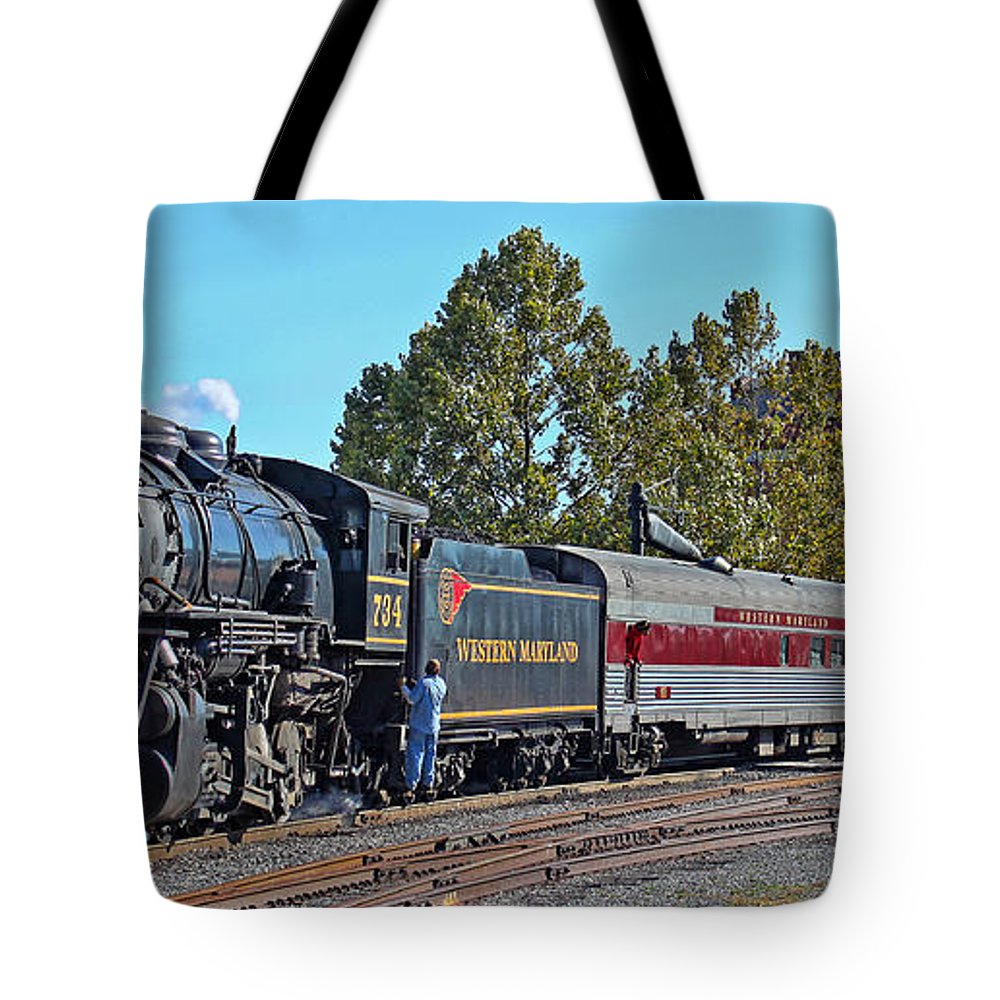 Cumberland Maryland Tote Bag featuring the photograph Cumberland Maryland Train Station by Jack Schultz
