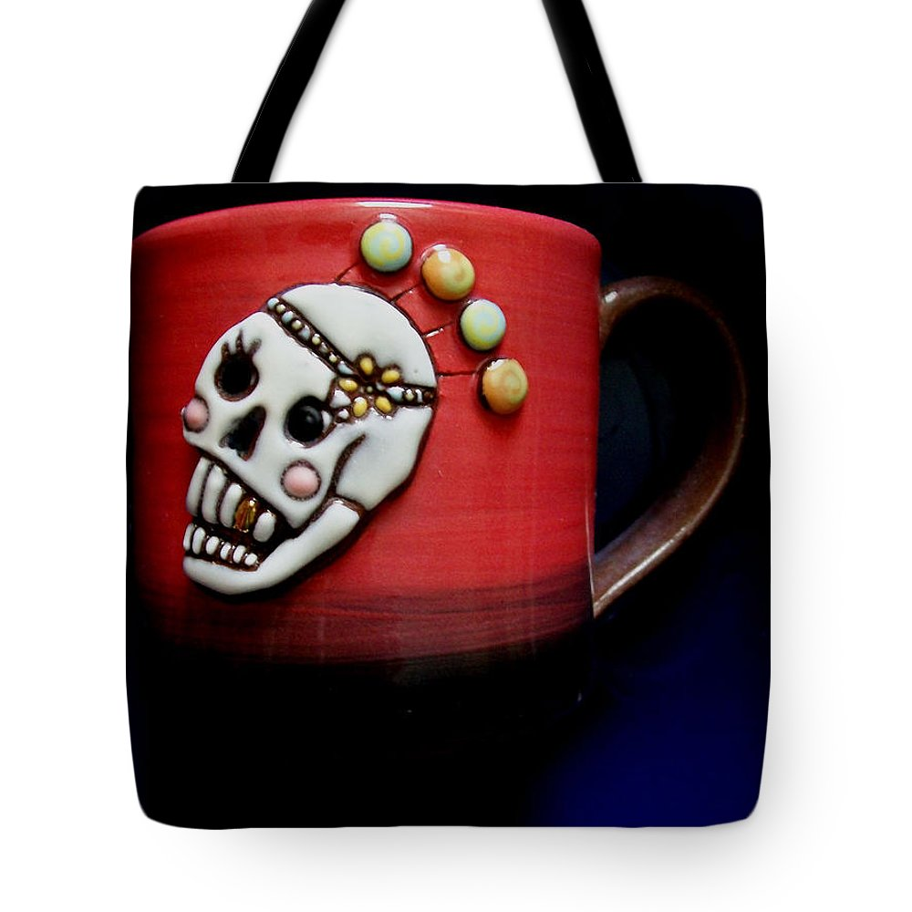 Tote Bag featuring the photograph Cup In Bowl by Laurette Escobar