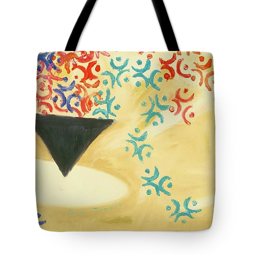 Coffee Tote Bag featuring the painting Cup Of Coffee by Karen Francis
