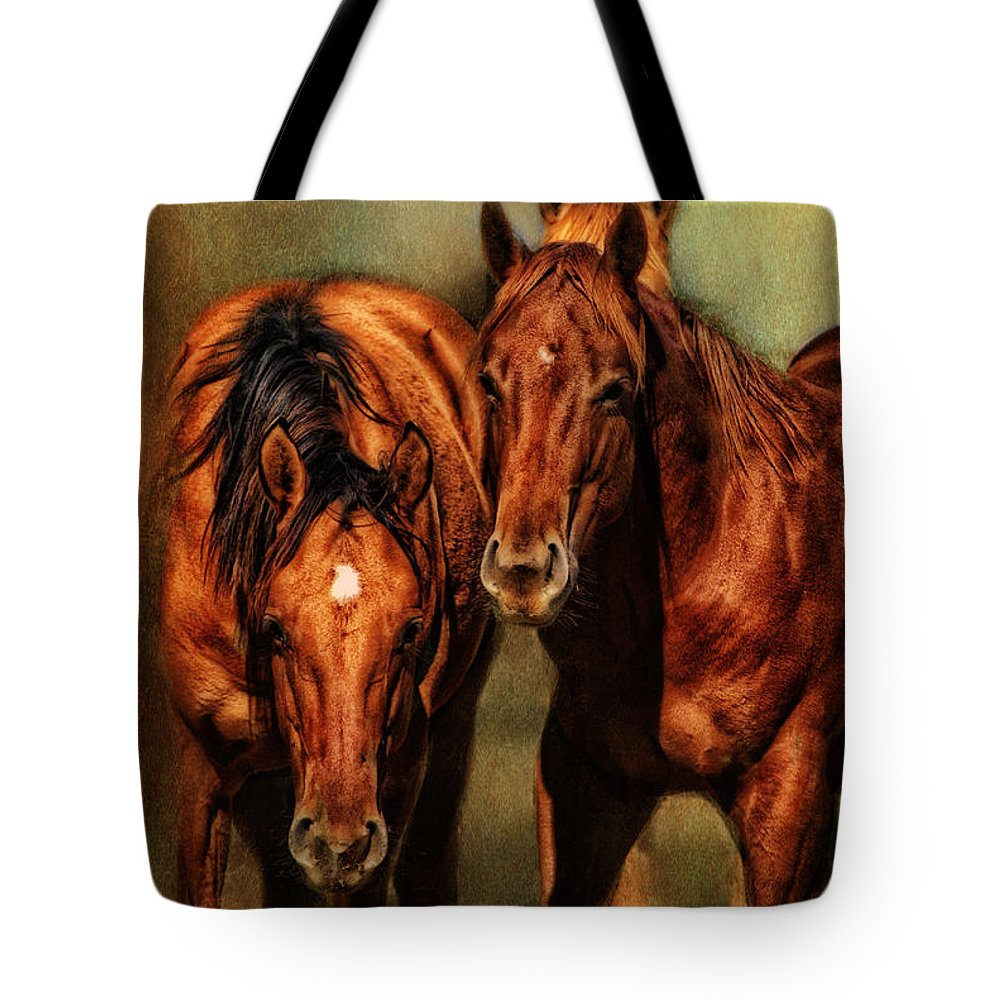 Equine Fine Art Tote Bag featuring the photograph Curiosity by Annette Coady