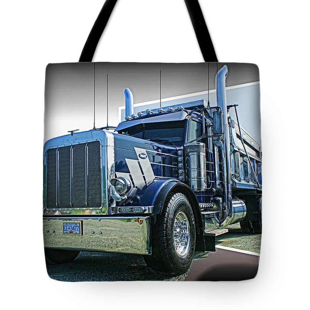 Trucks Tote Bag featuring the photograph Custom Dump Truck by Randy Harris