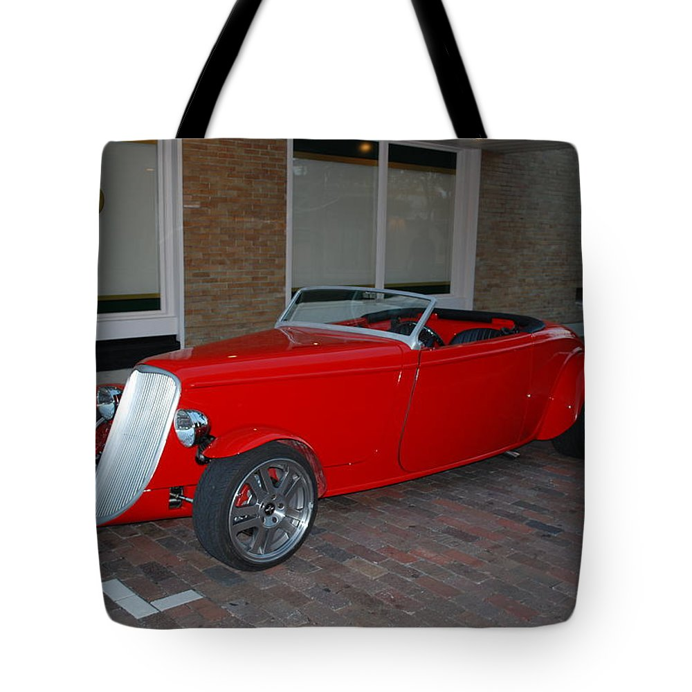 Downtown Ft.myers Tote Bag featuring the photograph Custom Hotrod by Robert Floyd