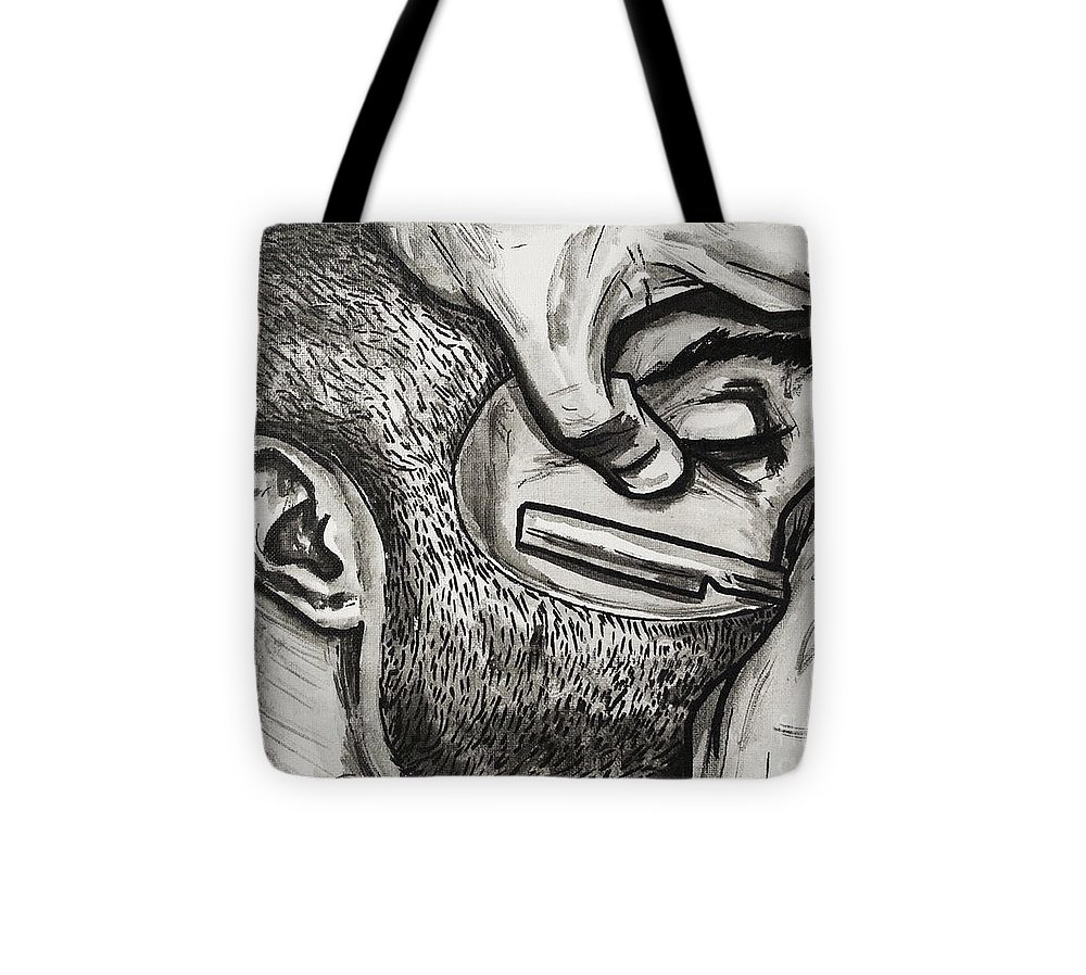 Razor Tote Bag featuring the painting Cut Close And Personal by Shop Aethetiks