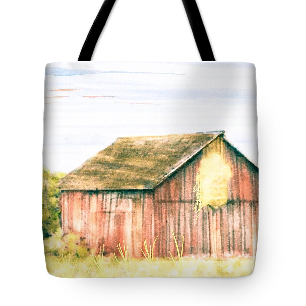Barn On The Farm Tote Bag featuring the digital art Cut Ties by Steven Boland