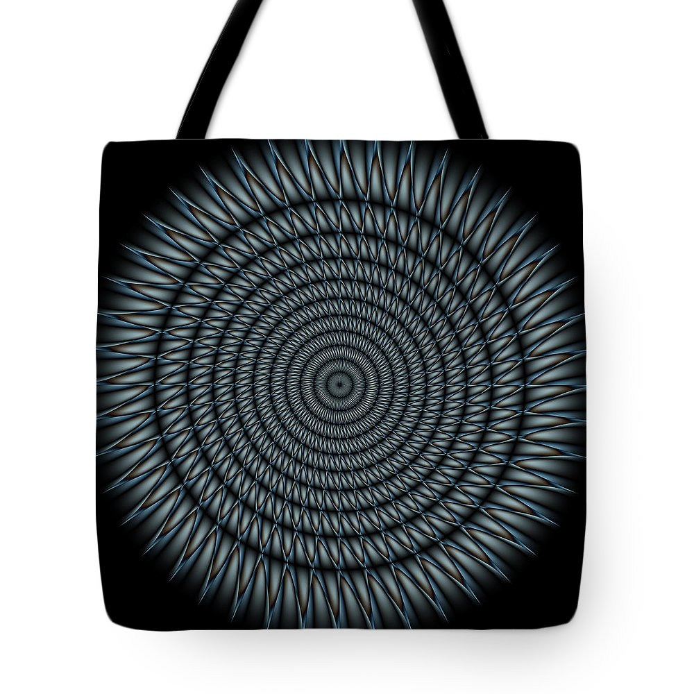 Mandala Tote Bag featuring the digital art Cyborg Mandala by WB Johnston