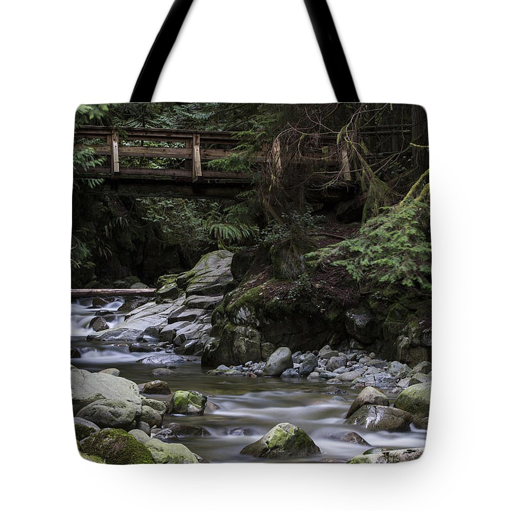 Background Tote Bag featuring the photograph Cypress Falls by Windy Corduroy