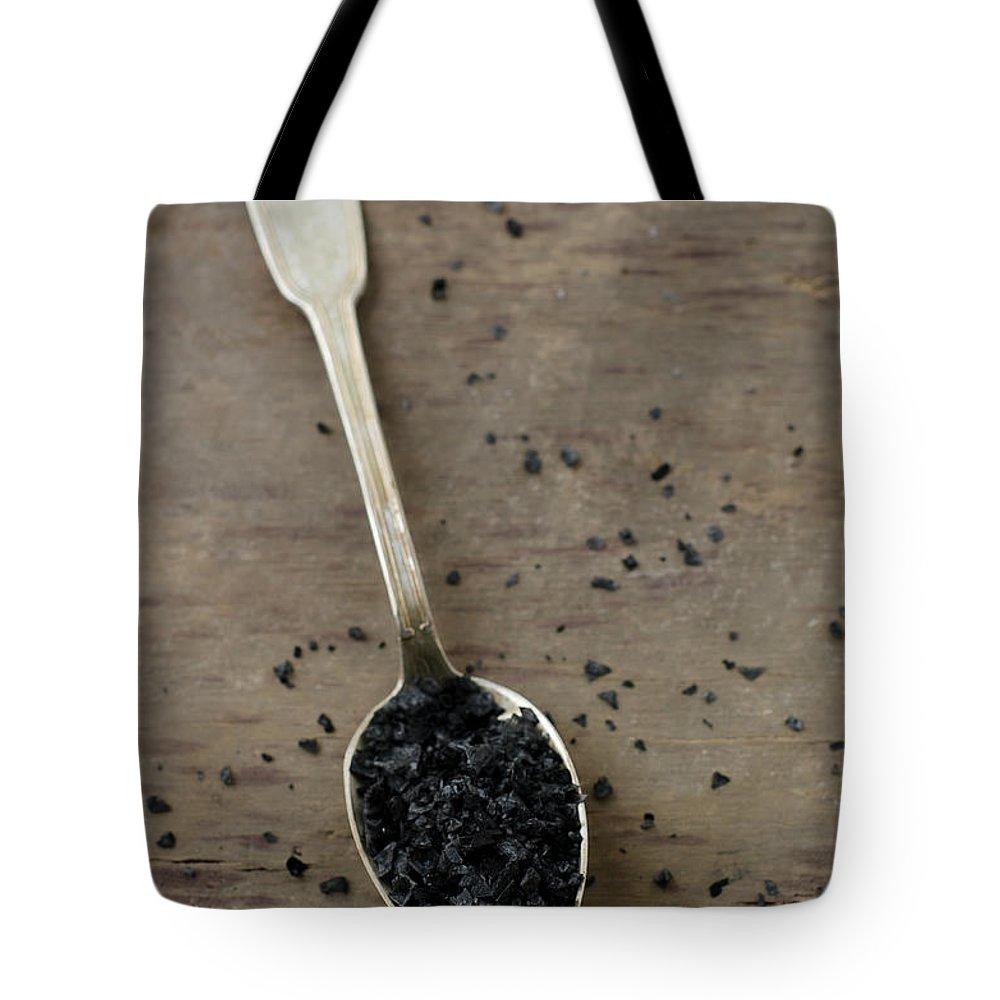 Mineral Tote Bag featuring the photograph Cyprus Black Sea Salt by Tania Mattiello
