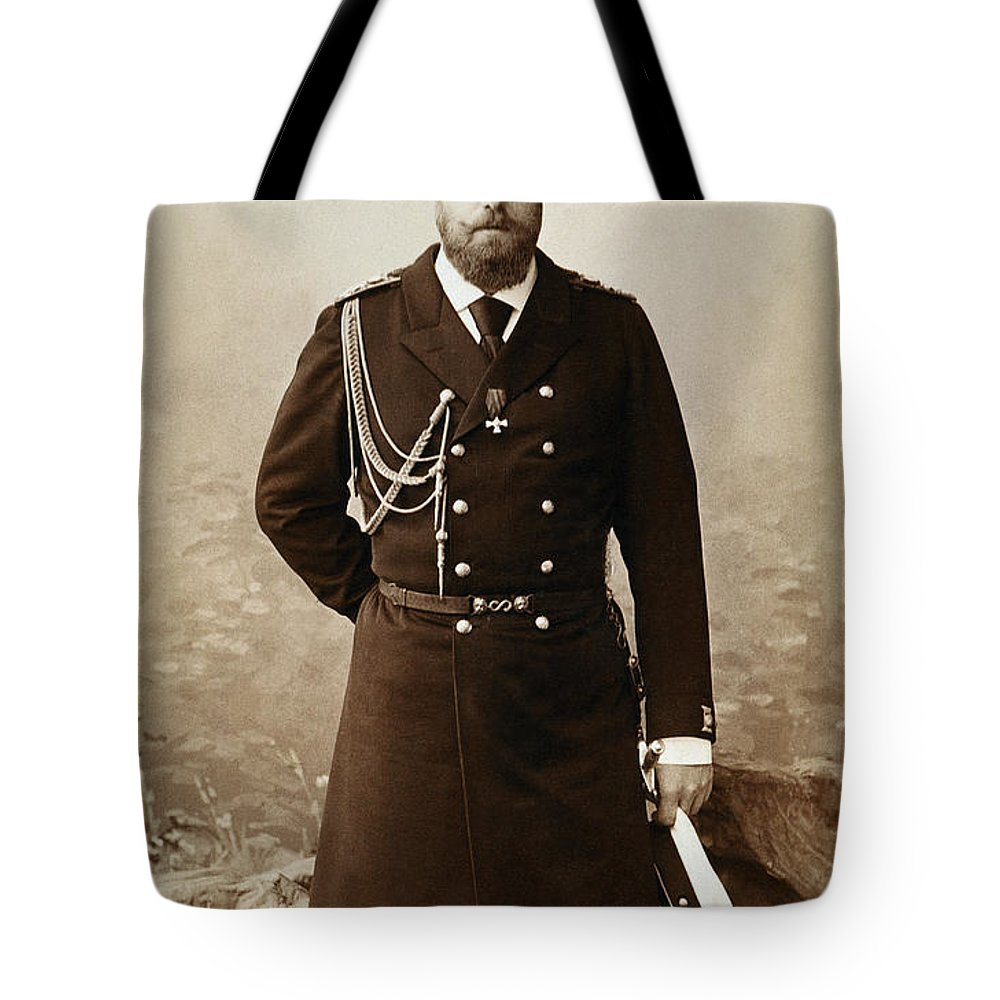 19th Century Tote Bag featuring the photograph Czar Alexander IIi by Granger
