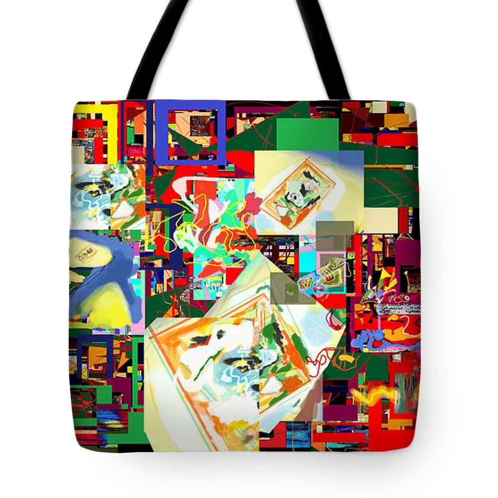 Daas Tote Bag featuring the digital art Daas 18b by David Baruch Wolk