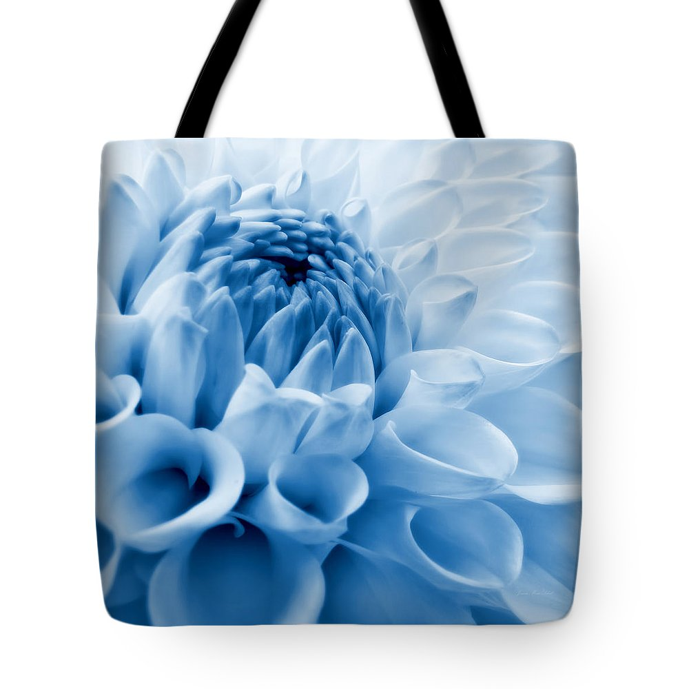 Dahlia Flower Blue Tote Bag For Sale By Jennie Marie Schell