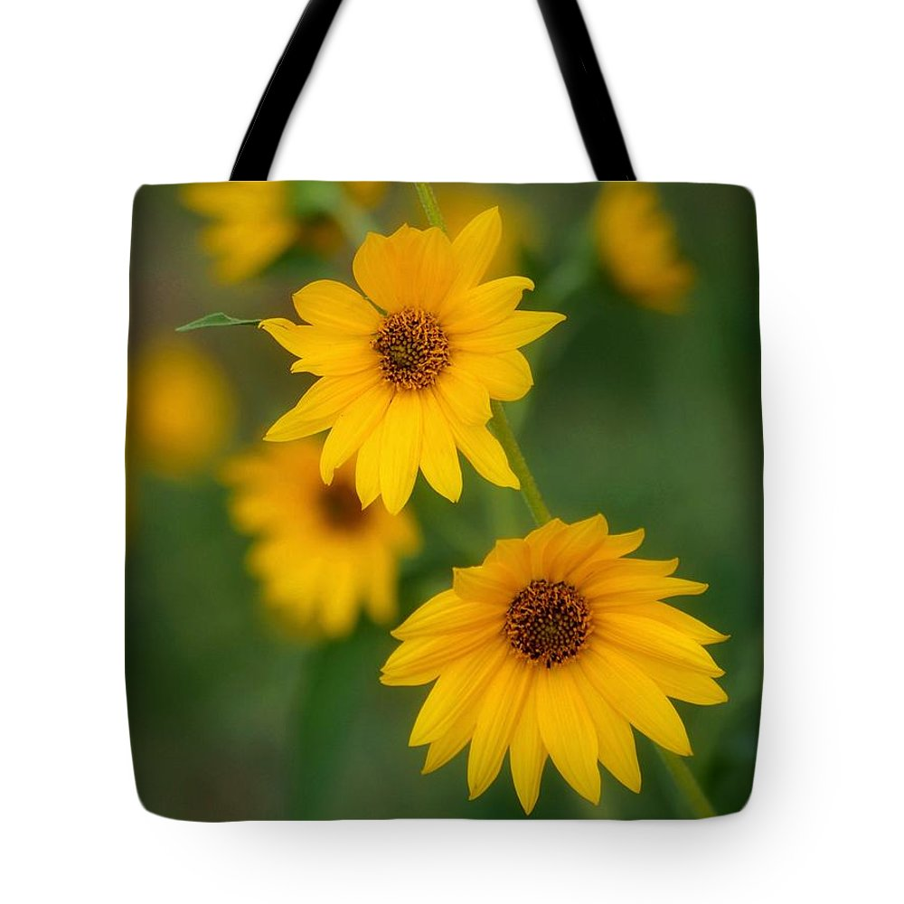 Yellow Tote Bag featuring the photograph Daised by Debbie Summers