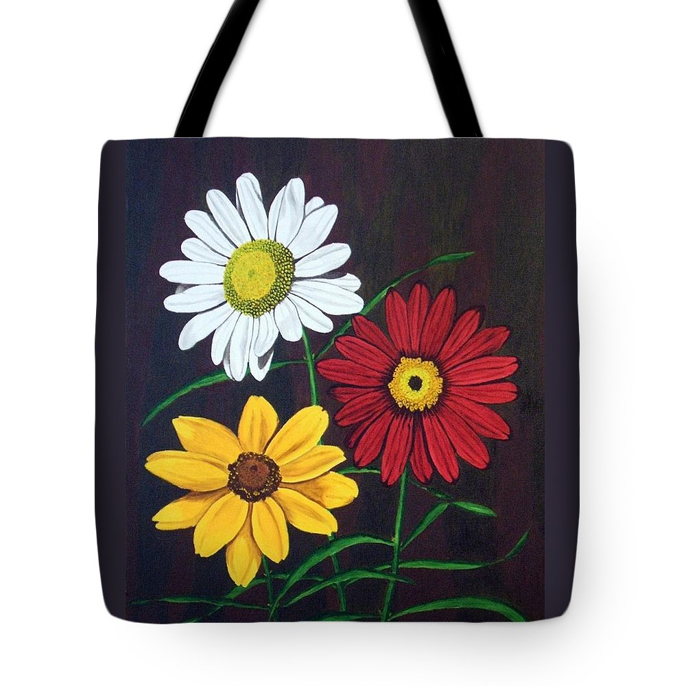 Daisy Flowers Tote Bag featuring the painting Daisy Mae by Brandy House