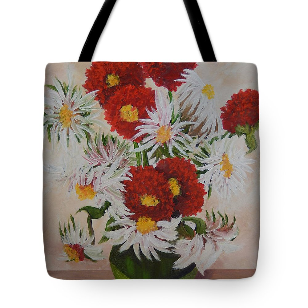 Daisy Tote Bag featuring the painting Daisy Mae by Kathy Przepadlo