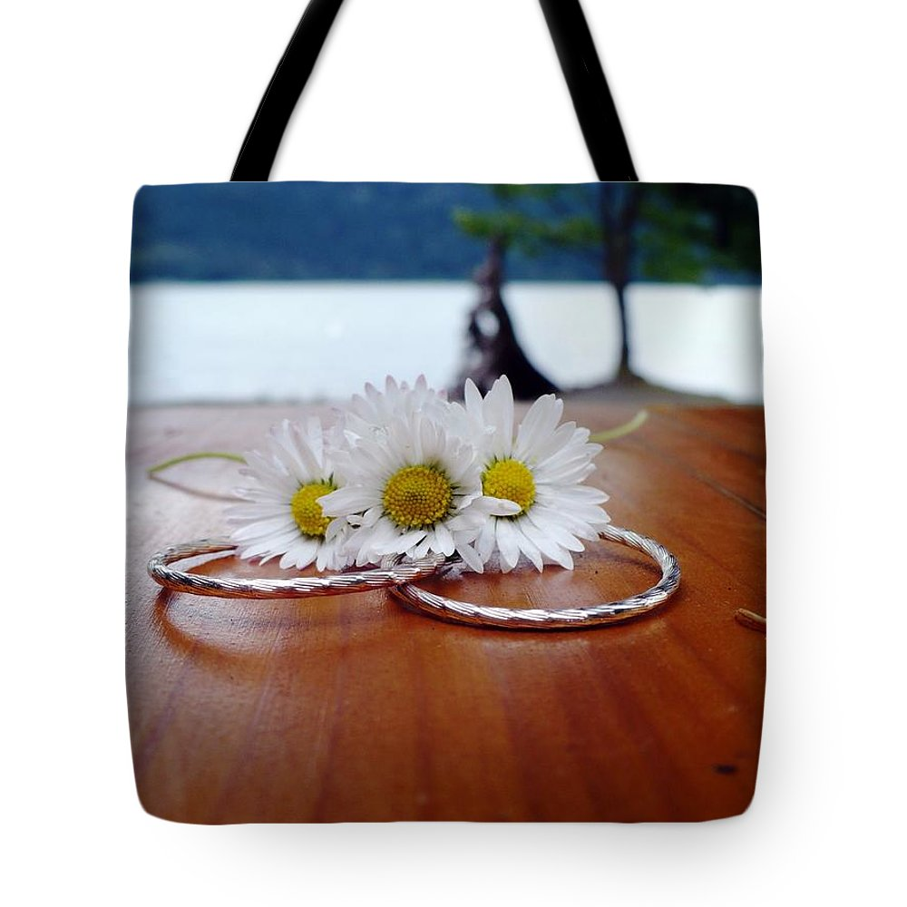 Unity Tote Bag featuring the photograph Daisy Unity Rings by Nicki Bennett
