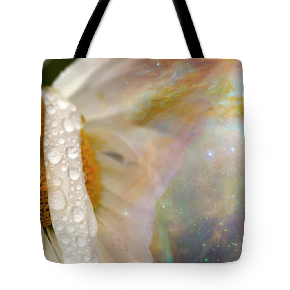 Photography Tote Bag featuring the photograph Daisy With Hubble Cosmos by Panoramic Images