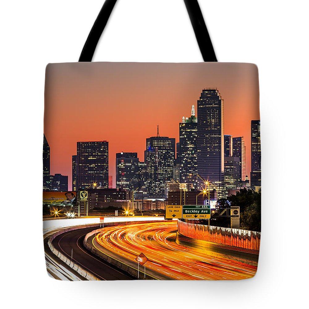 America Tote Bag featuring the photograph Dallas Sunrise by Mihai Andritoiu