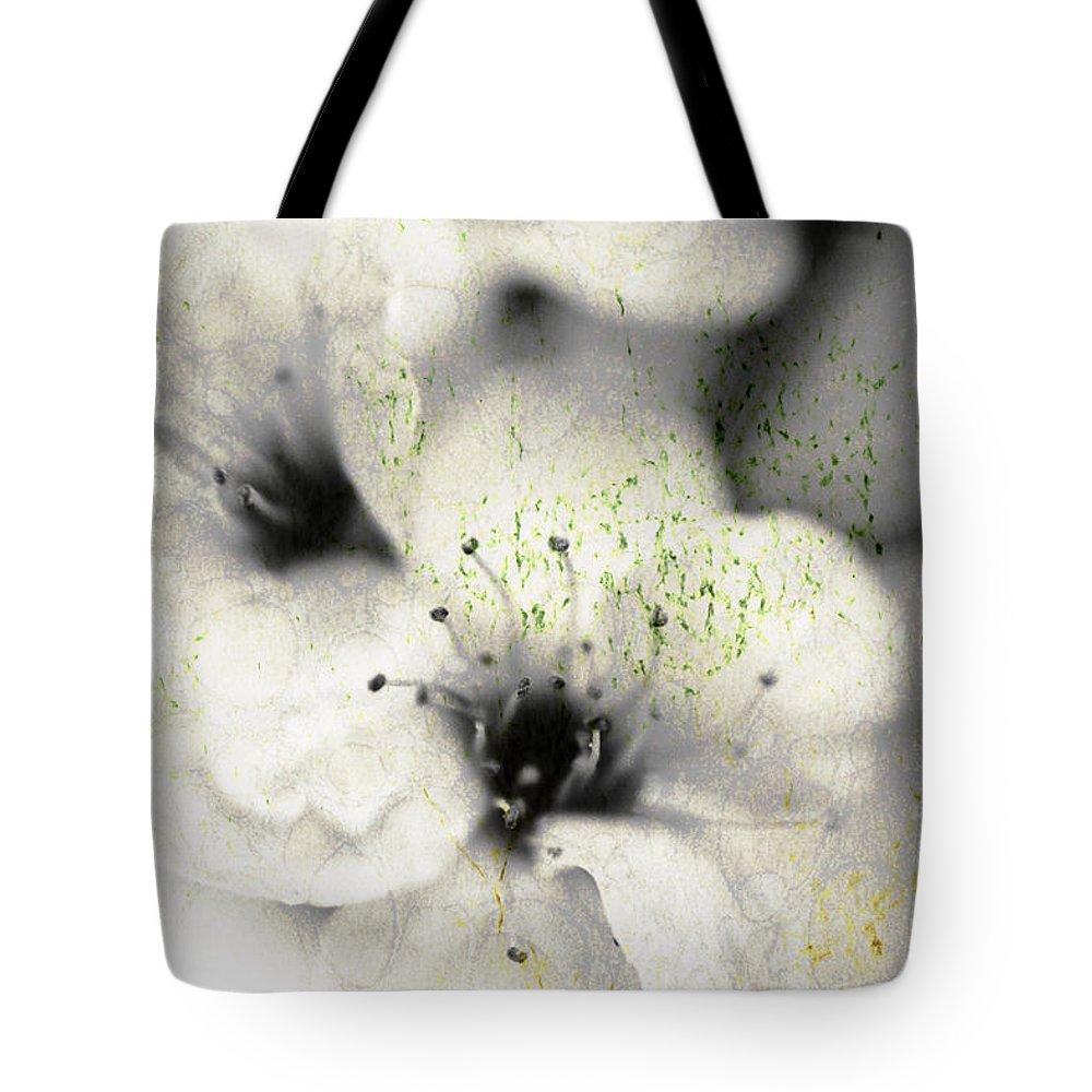 Botanical Tote Bag featuring the photograph Damaged Blooms by Timothy Bischoff