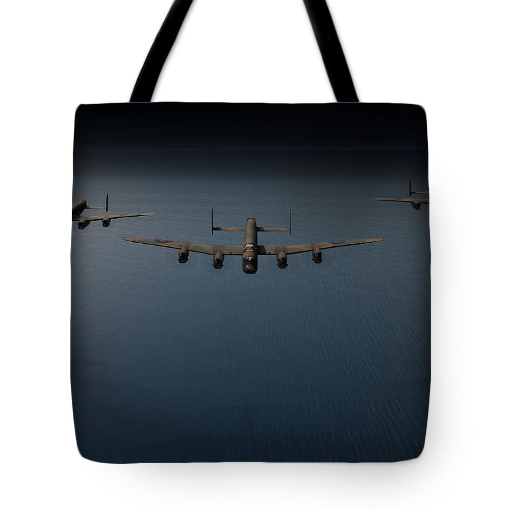 Dambusters Tote Bag featuring the photograph Dambusters Second Flight by Gary Eason
