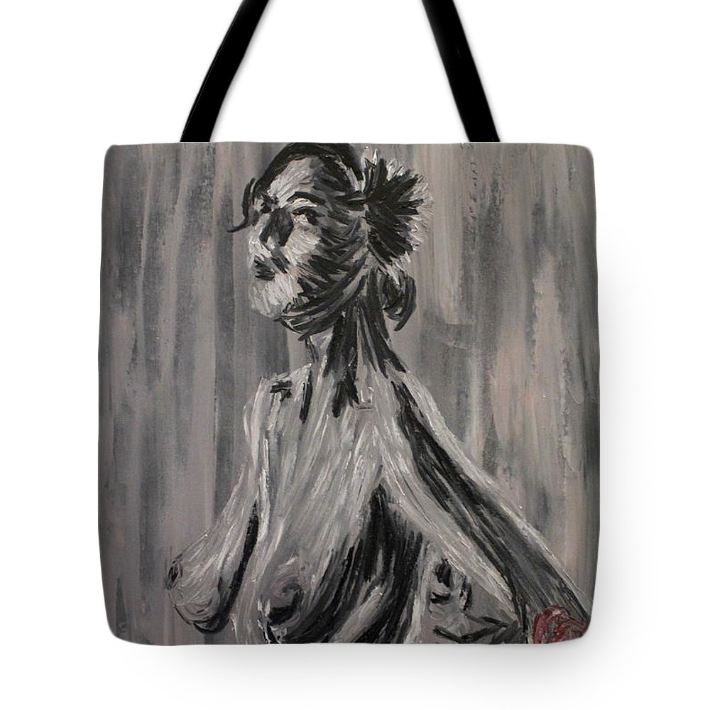 Nude Tote Bag featuring the painting Damigalla by Amanda Morrison